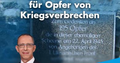 Gedenksteinzerstörung für Opfer von Kriegsverbrechen
