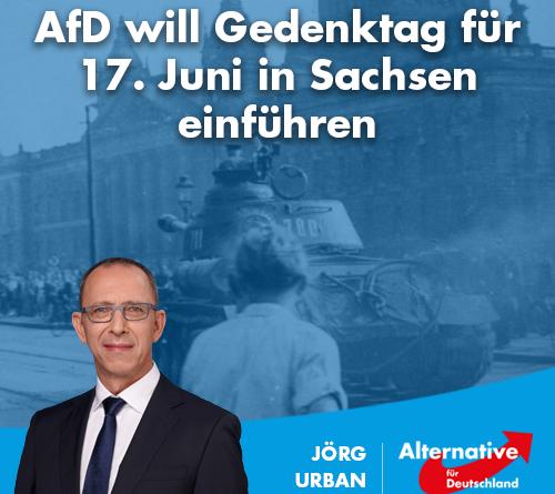 AfD will Gedenktag für 17. Juni in Sachsen einführen