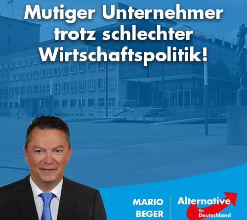 Mario Beger wirtschaftspolitischer Sprecher der AfD-Fraktion Sachsen