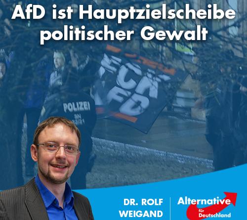 AfD ist Hauptzielscheibe politischer Gewalt
