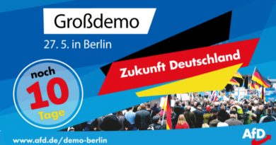 Am 27.5. steigt die AfD-Großdemonstration in Berlin – Machen Sie mit!