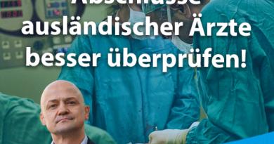 Abschlüsse ausländischer Ärzte endlich besser überprüfen!