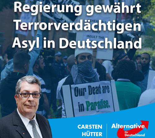 Regierung gewährt Terrorverdächtigen Asyl in Deutschland