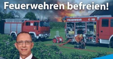 Kommunen vom Eigenanteil für neue Feuerwehren befreien