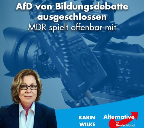 AfD von Bildungsdebatte ausgeschlossen – MDR spielt offenbar mit