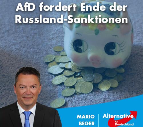 AfD fordert Ende der Russland-Sanktionen