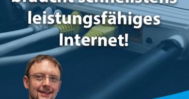 Ländlicher Raum braucht schnellstens leistungsfähiges Internet!
