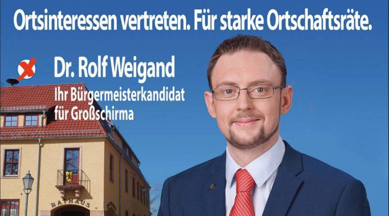 Dr. Rolf Weigand, AfD Bürgermeisterkadidat für Großschirma