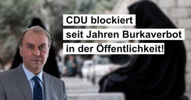 CDU blockiert seit Jahren Burkaverbot in der Öffentlichkeit!