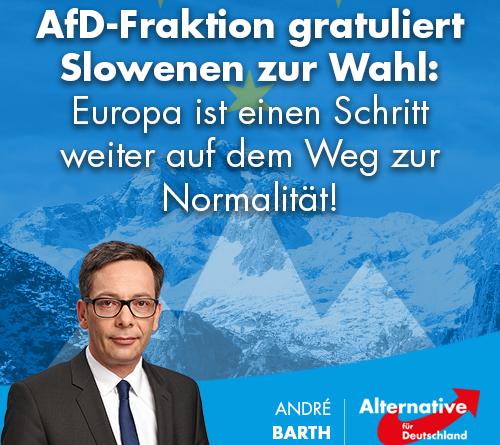 AfD-Fraktion gratuliert Slowenen zur Wahl