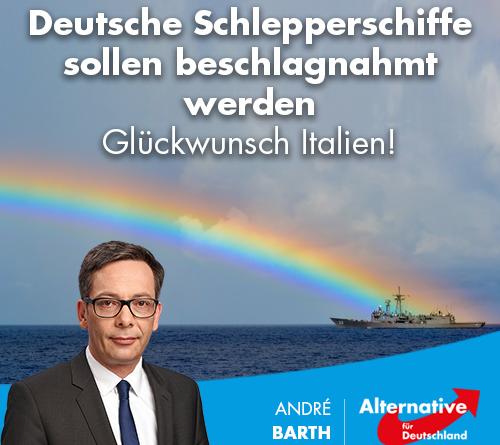 Deutsche Schlepperschiffe sollen beschlagnahmt werden – Glückwunsch Italien!
