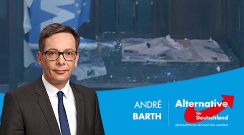 """Sächsische Zeitung verharmlost politischen Anschlag mit """"Unmut Luft gemacht""""."""