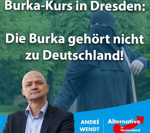 Burka-Kurs in Dresden: Die Burka gehört nicht zu Deutschland!