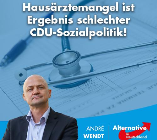 Hausärztemangel ist Ergebnis schlechter CDU-Sozialpolitik!