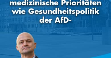 Sächsische Landesärztekammer setzt gleiche medizinische Prioritäten wie Gesundheitspolitik der AfD