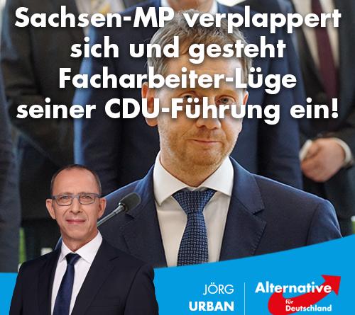 Sachsen-MP verplappert sich und gesteht Facharbeiter-Lüge seiner CDU-Führung ein!