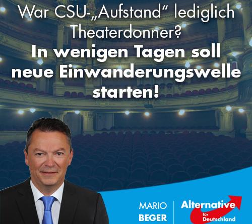 """War CSU-""""Aufstand"""" lediglich Theaterdonner? In wenigen Tagen soll neue Einwanderungswelle starten!"""