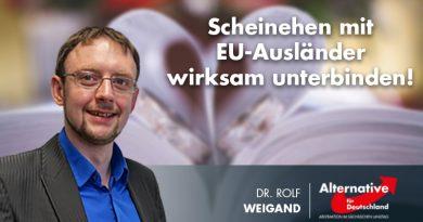 Scheinehen mit EU-Ausländer wirksam unterbinden!