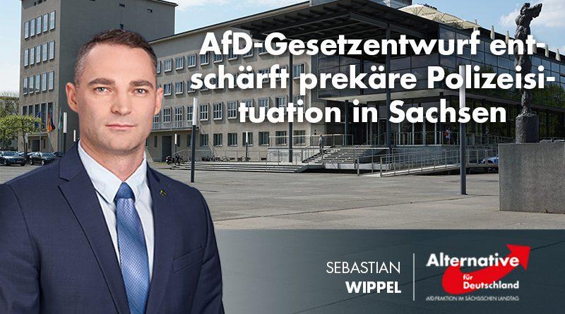 AfD-Gesetzentwurf entschärft prekäre Polizeisituation in Sachsen