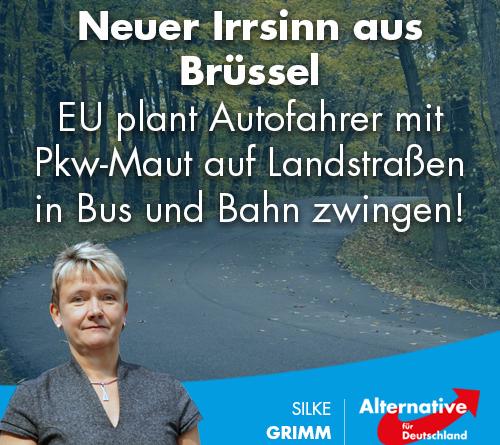 Neuer Irrsinn aus Brüssel: EU plant Autofahrer mit Pkw-Maut auf Landstraßen in Bus und Bahn zwingen!