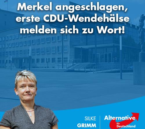 Merkel angeschlagen, erste CDU-Wendehälse melden sich zu Wort!
