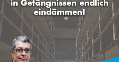 AfD fordert: Hohe Ausländergewalt in Gefängnissen endlich eindämmen!