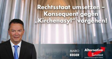"""Rechtsstaat umsetzen – Konsequent gegen """"Kirchenasyl"""" vorgehen!"""