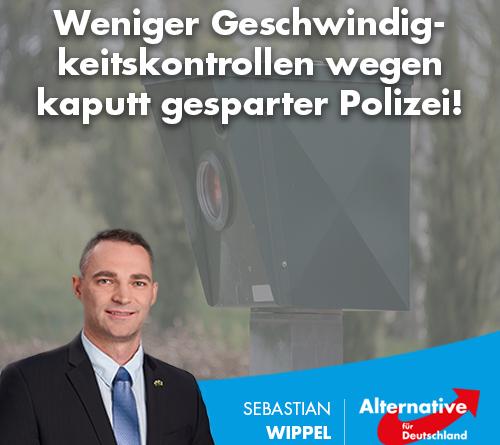 Weniger Geschwindigkeitskontrollen wegen kaputt gesparter Polizei!