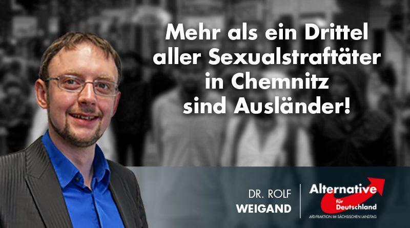 Mehr als ein Drittel aller Sexualstraftäter in Chemnitz sind Ausländer!