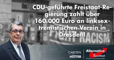CDU-geführte Freistaat-Regierung zahlt über 160.000 Euro an linksextremistischen Verein in Dresden!