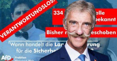 334 Risikopersonen in Rheinland-Pfalz: Das Land sollte handeln und konsequent ausweisen!