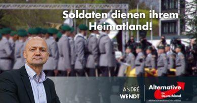 Soldaten dienen ihrem Heimatland!