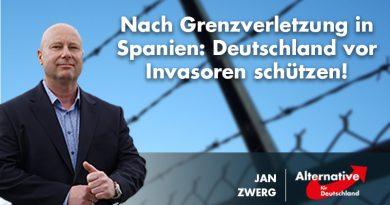 Nach Grenzverletzung in Spanien: Deutschland vor Invasoren schützen!