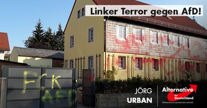 Linker Terror gegen AfD immer schlimmer: Anschlag auf Haus und Auto des Landes- und Fraktionsvorsitzenden Urban!