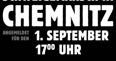Schweigemarsch in Chemnitz - junger Mensch brutal ermordet