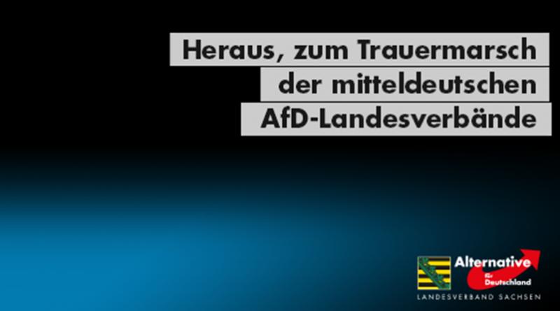 gemeinsamer Trauermarsch der AfD-Landesverbände Sachsen, Thüringen und Brandenburg mit