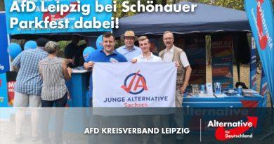 AfD Leipzig beim Schönauer Parkfest dabei!