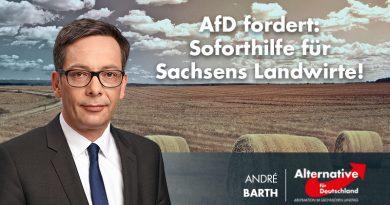 AfD fordert: Soforthilfe für Sachsens Landwirte!