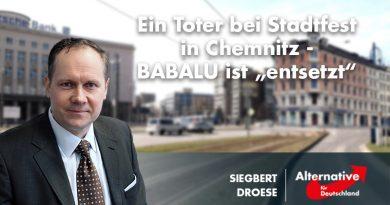 """Droese: Ein Toter bei Stadtfest in Chemnitz - BABALU ist """"entsetzt"""""""