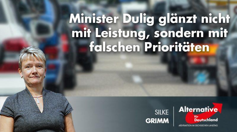 Minister Dulig glänzt nicht mit Leistung, sondern mit falschen Prioritäten