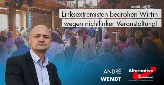 Linksextremisten bedrohen Wirtin wegen nichtlinker Veranstaltung!