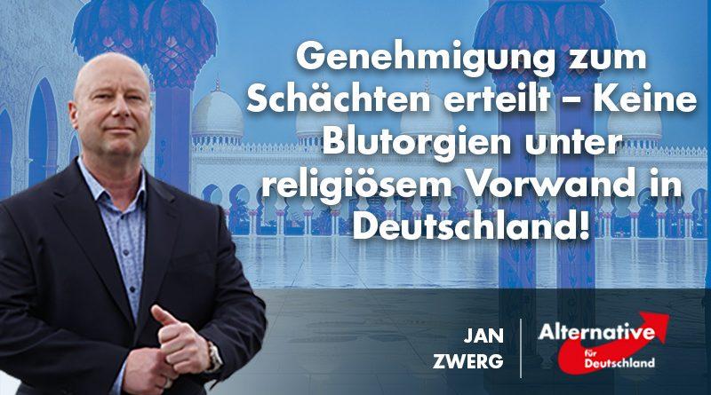 Genehmigung zum Schächten erteilt – Keine Blutorgien unter religiösem Vorwand in Deutschland!