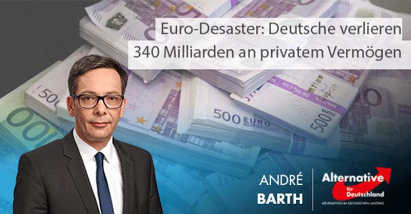 Euro-Desaster: Deutsche verlieren 340 Milliarden an privatem Vermögen
