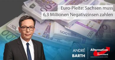 Euro-Pleite: Sachsen muss 6,3 Millionen Negativzinsen zahlen
