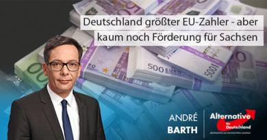 Deutschland größter EU-Zahler - aber kaum noch Förderung für Sachsen