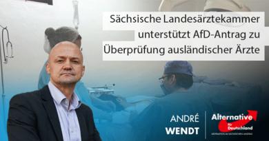 Sächsische Landesärztekammer unterstützt AfD-Antrag zu Überprüfung ausländischer Ärzte