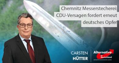 Chemnitz Messerstecherei: CDU-Versagen fordert erneut deutsches Opfer