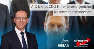 AfD bietet CDU Hilfe für erfolgreiches Krisenmanagement an!