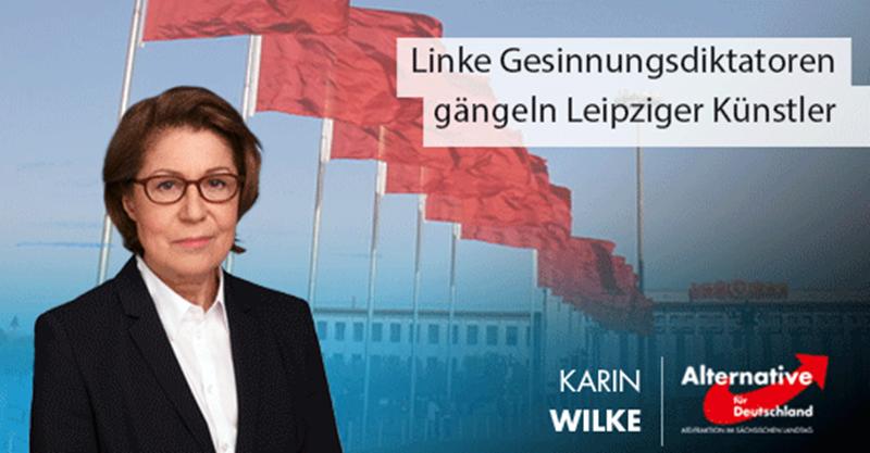 Linke Gesinnungsdiktatoren gängeln Leipziger Künstler