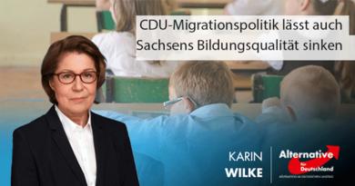 CDU-Migrationspolitik lässt auch Sachsens Bildungsqualität sinken